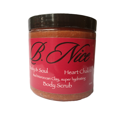 Body Scrub Red Moroccan Clay super hydrating 236 ML by Hector L Espinosa