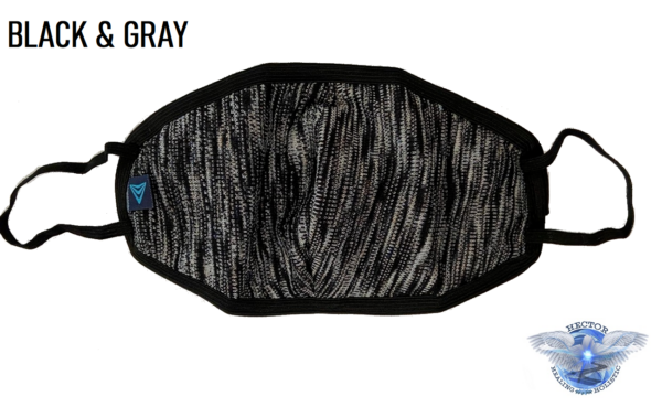 Black & Gray Camouflage Covid 19 Protection Mask